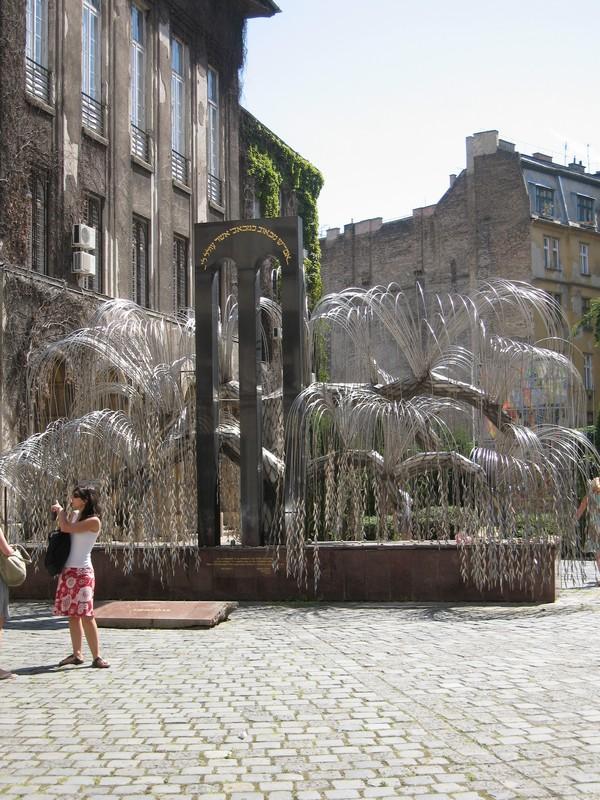 """""""серебряное дерево"""" во дворе синагоги."""