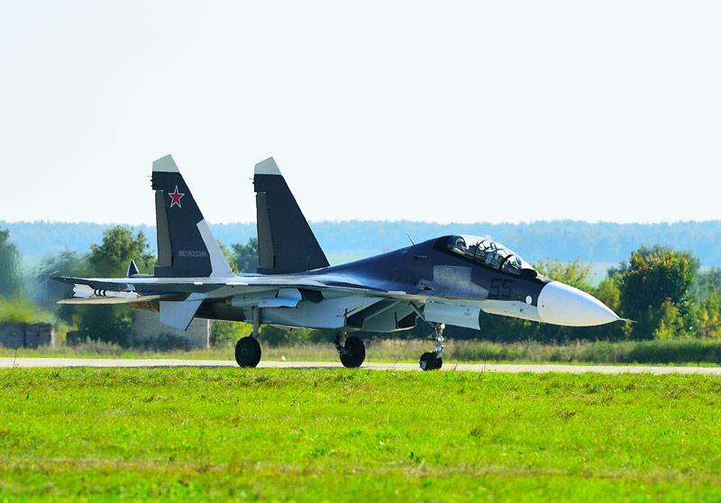 Су-30СМ. Посадка. Авиашоу 60.