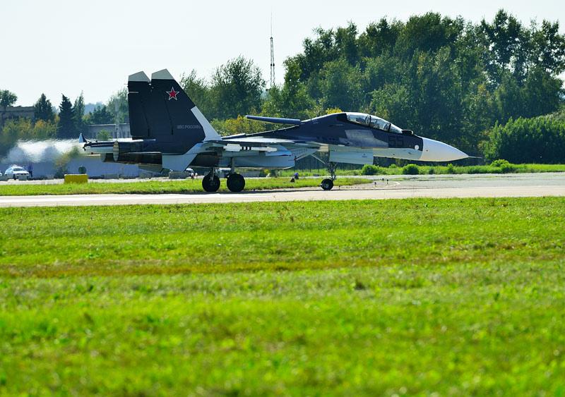 Су-30СМ. Посадка.