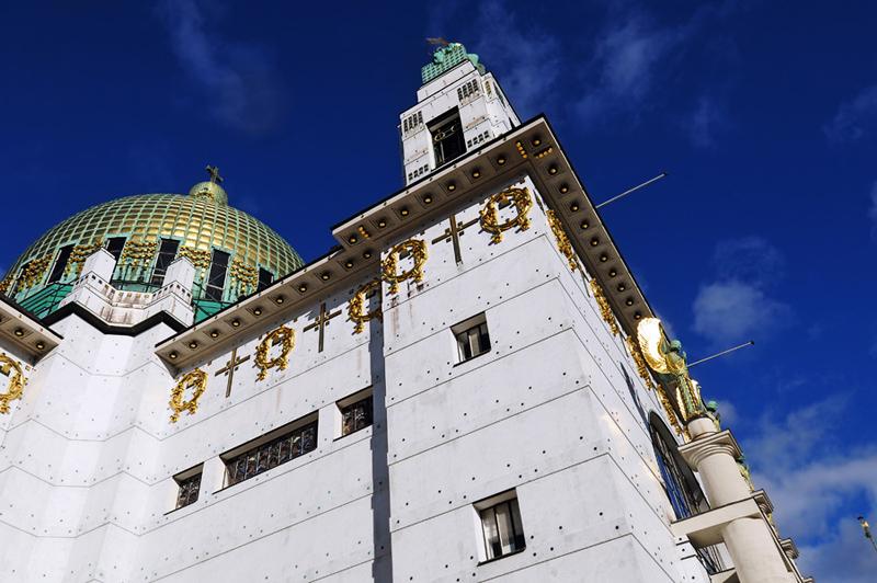 Kirche am Steinhof. В небо.