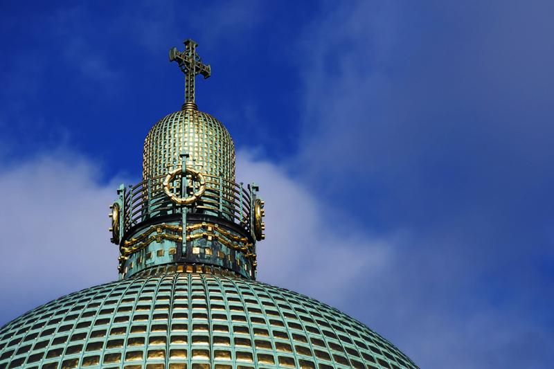 Kirche am Steinhof. Макушка Золотого Лимона.