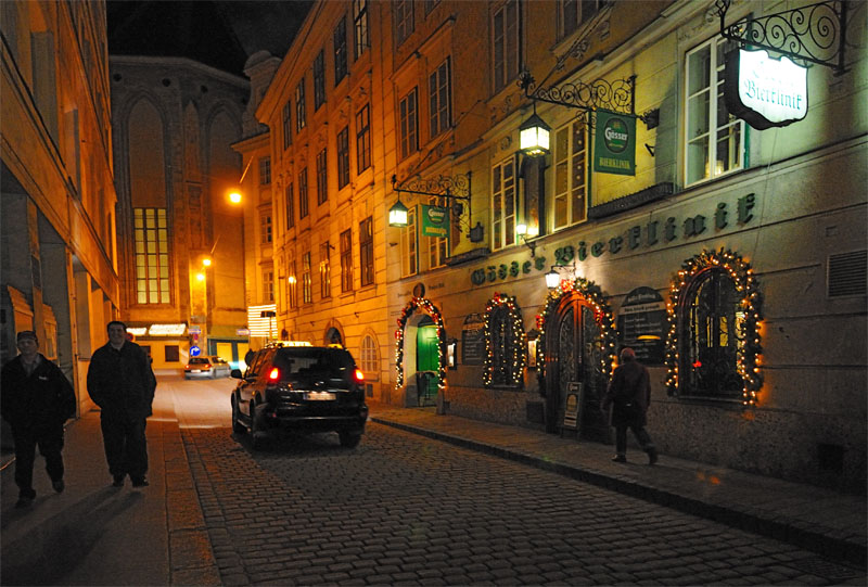 Вена. Пивной ресторан Бирклиник. Gosser Bierklinik. 1