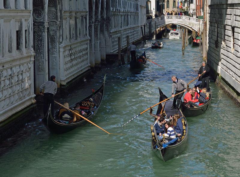 Венеция. Гондолы и гондольеры. Venice. 87