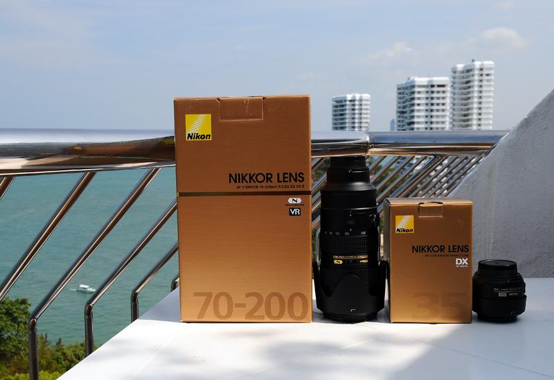 Nikkor 70-200mm f/2.8 VR II и Nikkor 35mm f/1.8