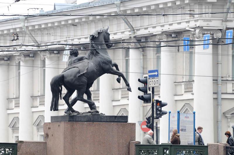 Санкт-Петербург. Аничков мост. Saint-Petersburg. Anichkov Bbridge.