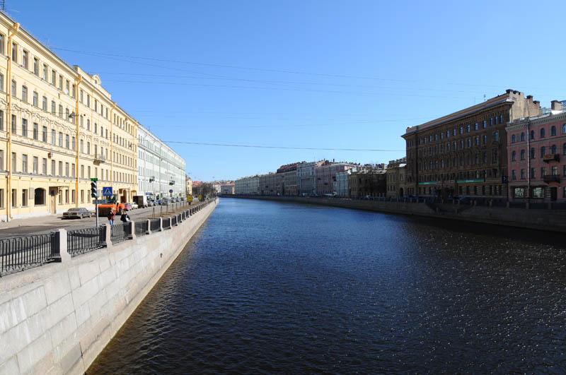Санкт-Петербург. Набережная реки Фонтанки. Saint-Petersburg. Fontanka.