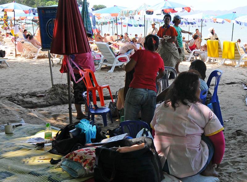 Паттайя. Кози Бич. Массаж на пляже. Pattaya. 41