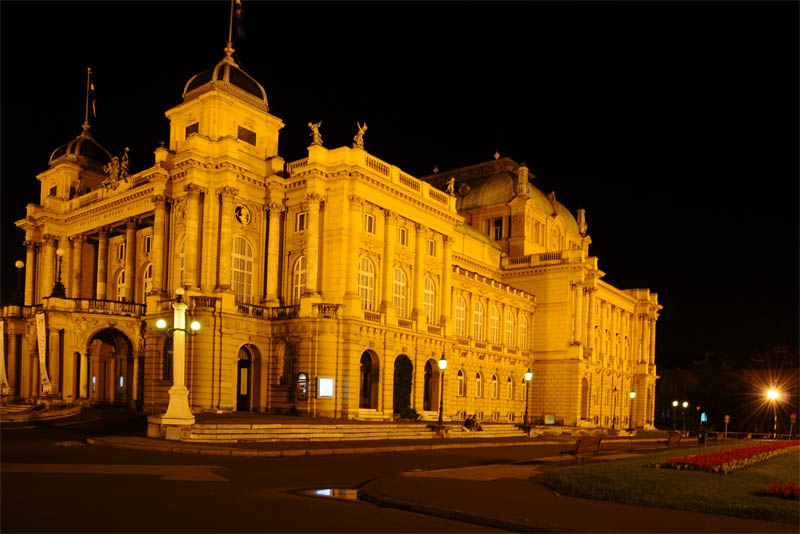 Загреб. Хорватский народный театр. Zagreb. Theatre. 22