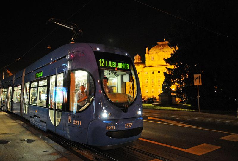 Вечерний Загреб. Трамвай. Zagreb. 68