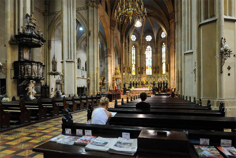 Загреб. Интерьер собора Вознесения Девы Марии. Zagreb. 32