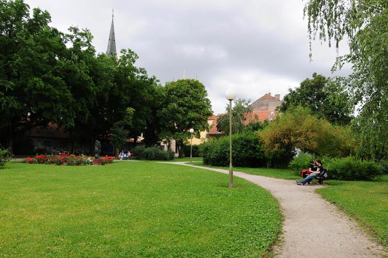 Загреб. Сквер. Zagreb. 42
