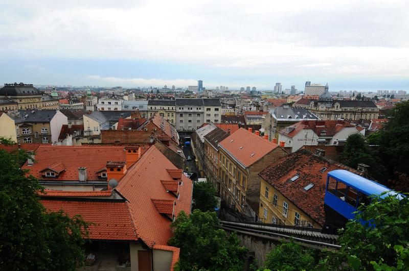 Загреб. Фуникулер. Zagreb. 57