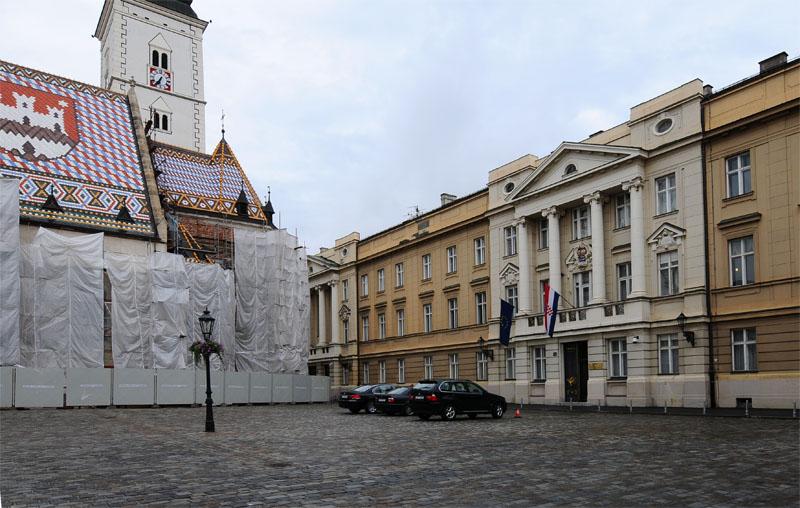 Загреб. Площадь Св. Марка. Zagreb. 61