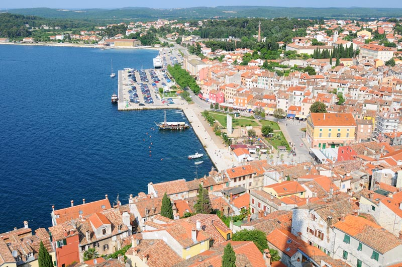 Фото 44. Бухта Ровиня с колокольни. Rovinj. Croatia