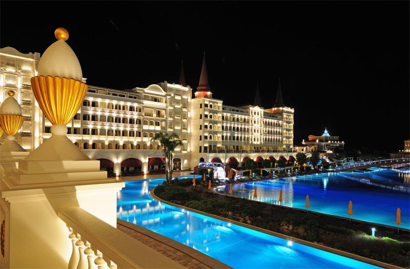 Мардан Палас ночью. Mardan Palace. 6