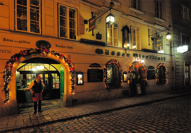 Вена. Пивной ресторан Бирклиник. Gosser Bierklinik. 2