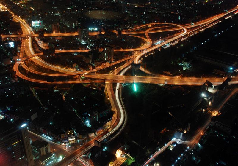 Ночной Бангкок с 300метров. Night Bangkok.