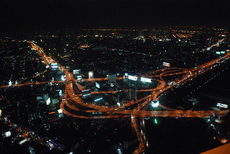 Ночной Бангкок с высоты 300 метров. Night Bangkok.