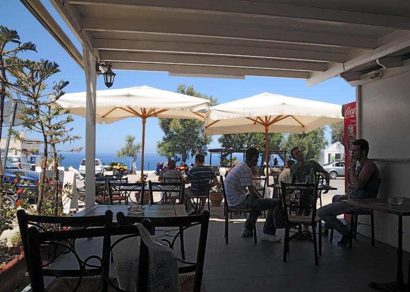 Санторини. Ия. Кафе. Santorini. Oia.61