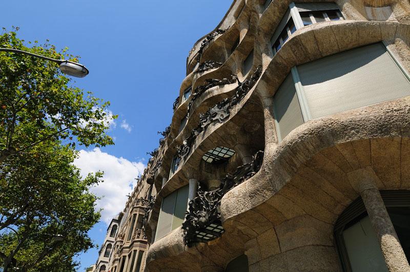 Гауди. Ла Педрера. Барселона. Каталония. Испания.