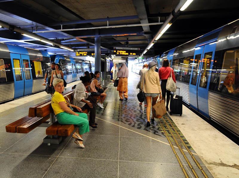 Стокгольмское метро. Stockholm T. 21