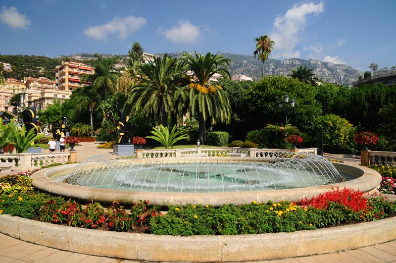 Монако. Парк перед казино. Monaco. Фото 15