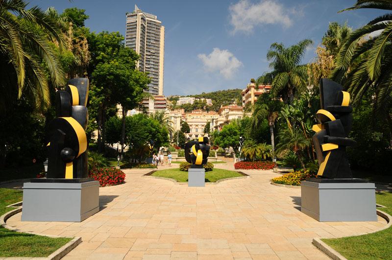 Монако. Парк перед казино. Monaco. Фото 20.