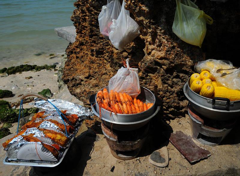 Паттайя. Еда на пляже. Pattaya. 61