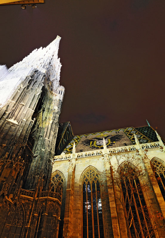 Вена. Собор Св. Стефана ночью. Vienna. Night Stefansdom. 28