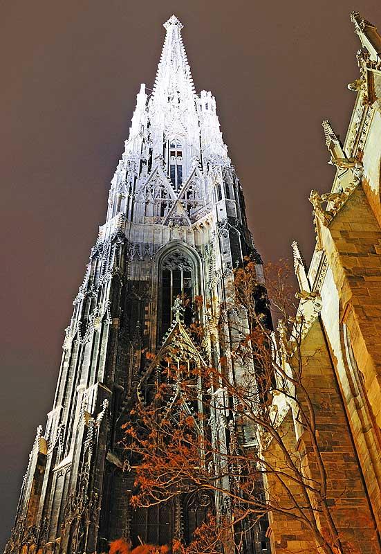 Вена. Собор Св. Стефана ночью. Vienna. Night Stefansdom. 30