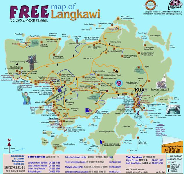 Карта острова Лангкави. 1