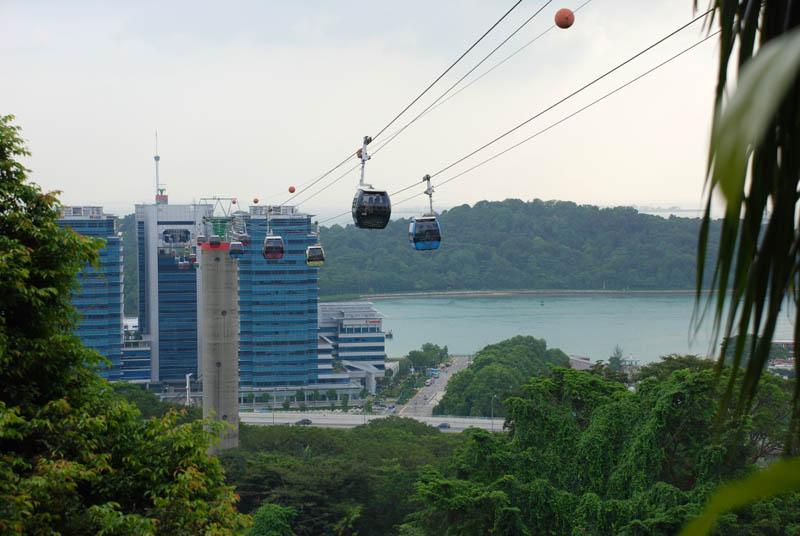 Фото Сингапур. Сентоза. Фуникулёр. Singapore. Cable Car.