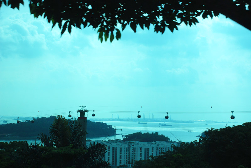 Сингапур. Канатная дорога. Singapore. Cable Car.