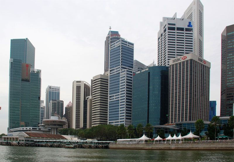 Сингапур. Singapore. Duck Tours. Down Town.