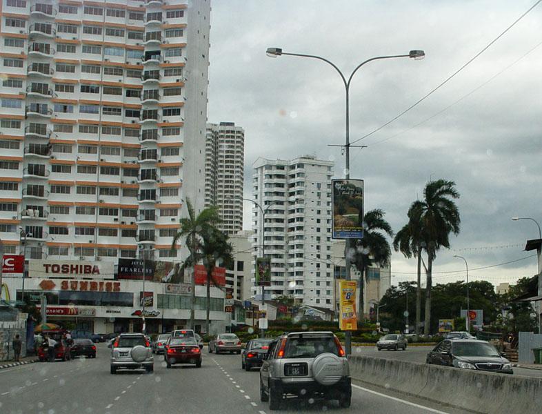 Пенанг.Дорога.Penang.Road.