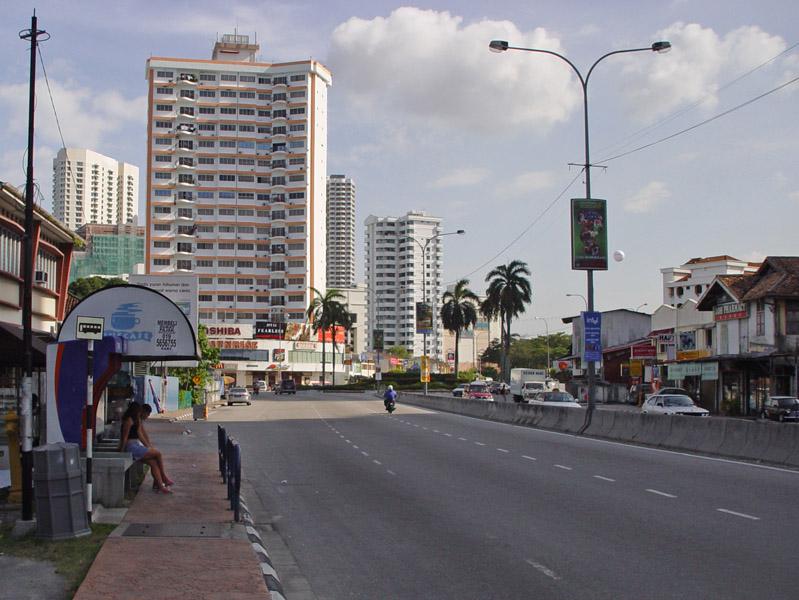 Пенанг.Автобусная остановка.Penang.Bus Stop.