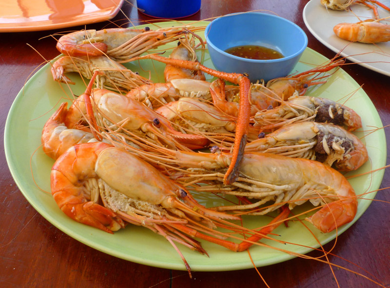 Паттайя. Кози Бич. Еда на пляже. Pattaya. 64