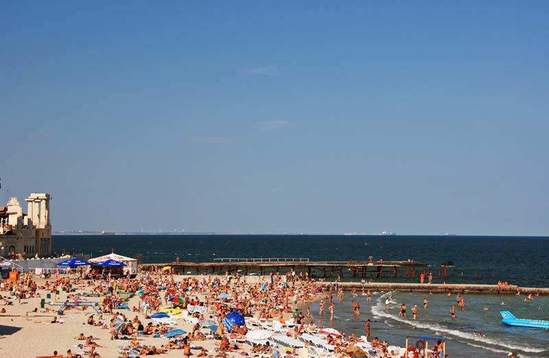 Одесса. Пляж Аркадия. Odessa. Arkadiya Beach.